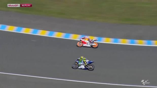 Ultrapassagem de Marquez a Rossi