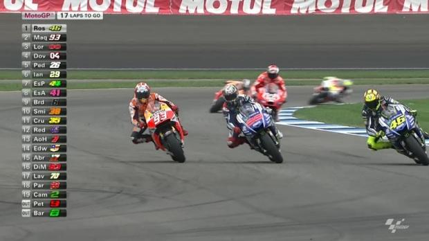 Marquez, Lorenzo e Rossi