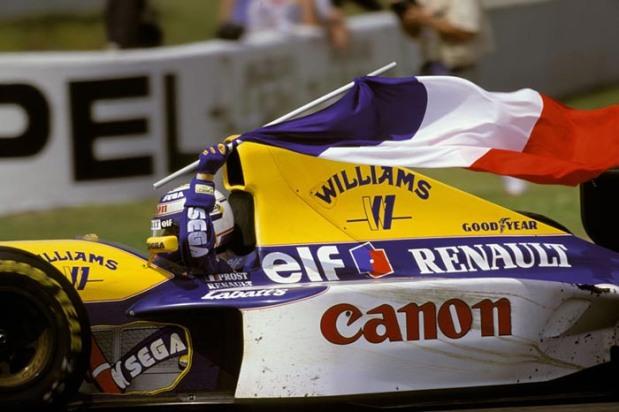 Alain Prost aprés sa victoire á Magny-Cours en 1993 @foto escolha pessoal