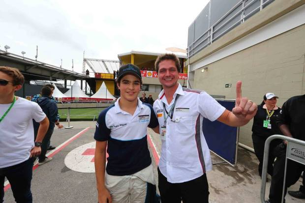Luis Ferrari à dta com Pedro Piquet @ foto escolha pessoal